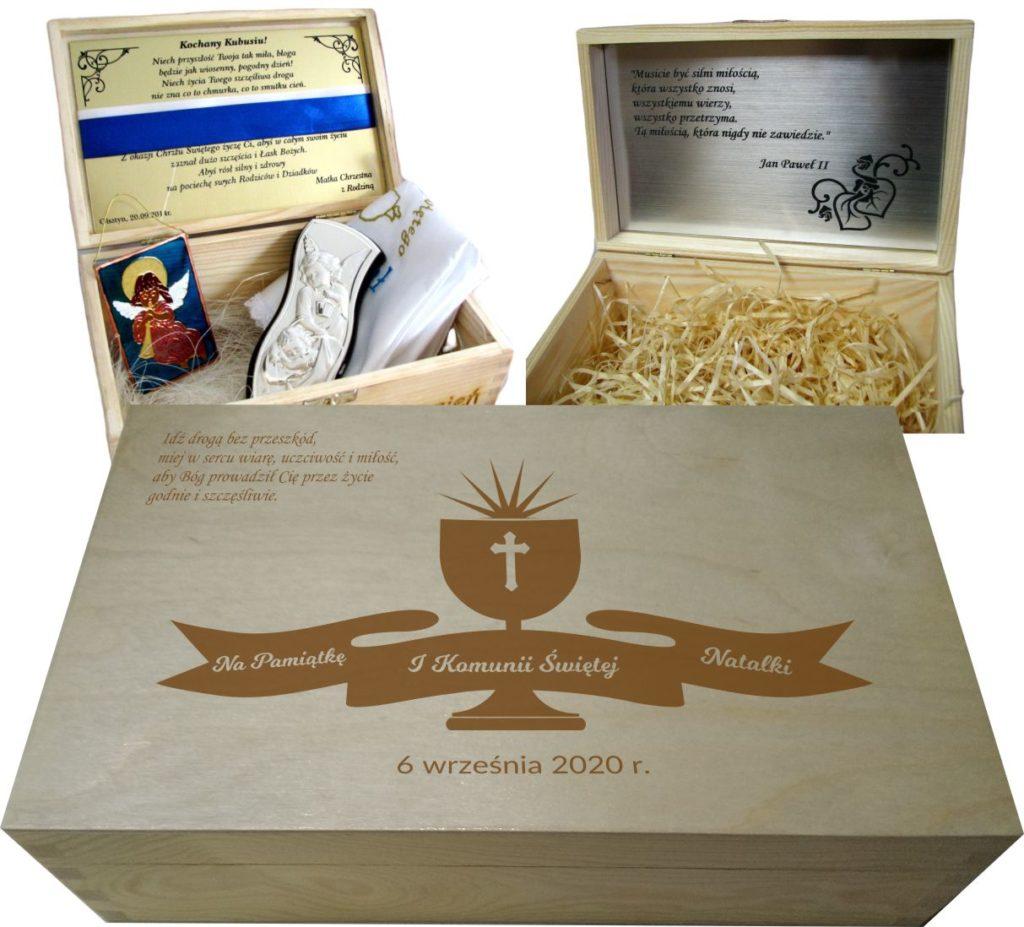 prezent na Komunię - pudeło wspomnień